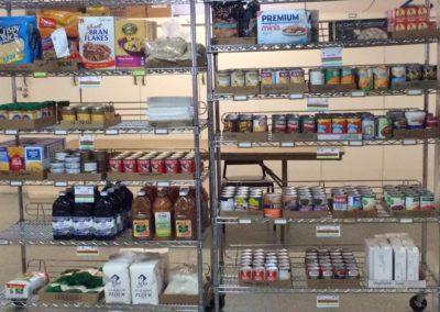 Pantry Shelves Toledo Food Share Pantry, Toledo, Oregon