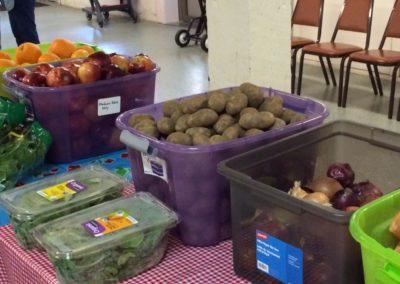 Food bins at Toledo Food Share Pantry, Toledo, Oregon